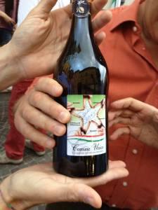 bottiglia di pignoletto celebrativa